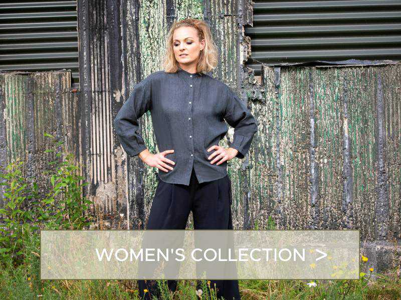 womens fashion linen shirts - made in ireland