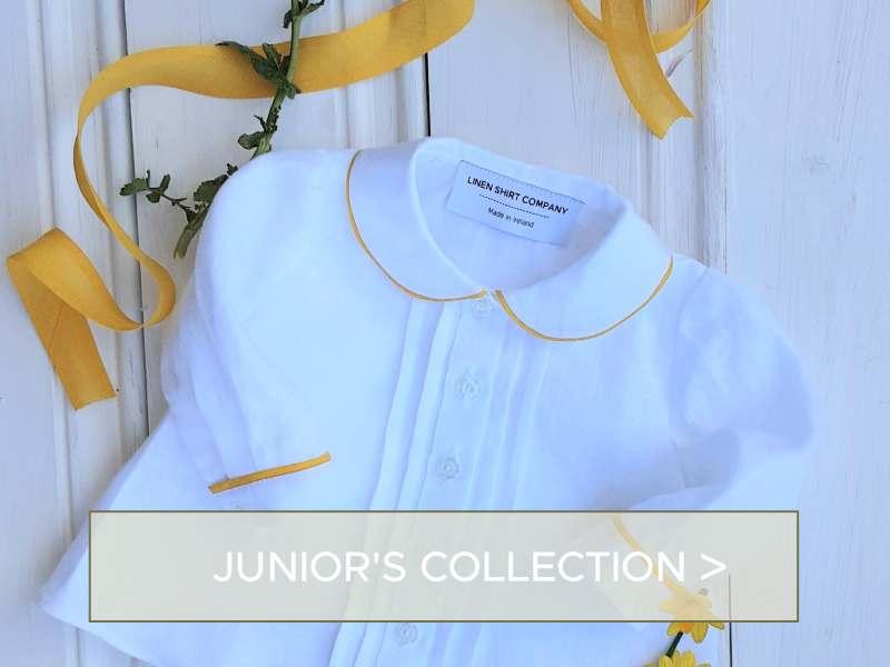 Junior Baby fashion irish linen shirts - made in ireland
